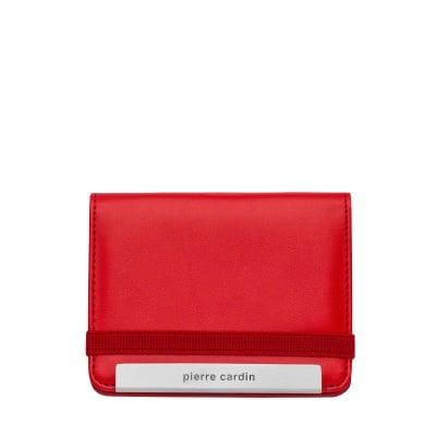 Калъф за документи PIERRE CARDIN червен с място за малка химикалка