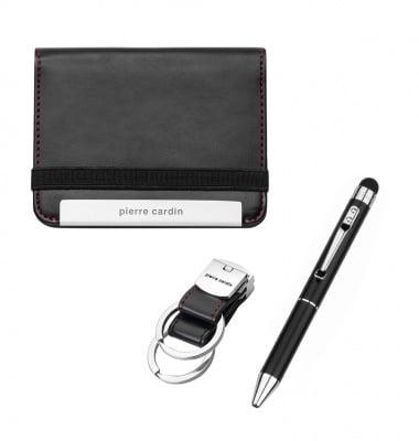Сет PIERRE CARDIN - химикалка , калъф за документи и ключодържател