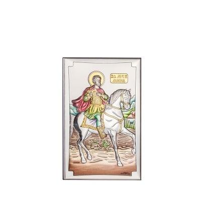 Икона св.Мина цветна