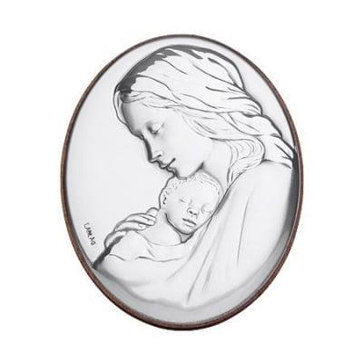 Икона сребро овална
