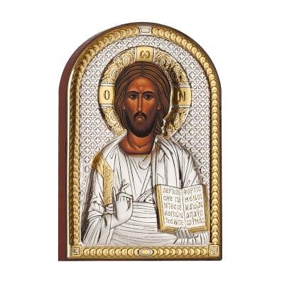 Икона Христос златен 6/8,5см.