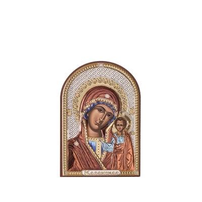 Икона Казанска Богородица 4,5 / 6,5 см.