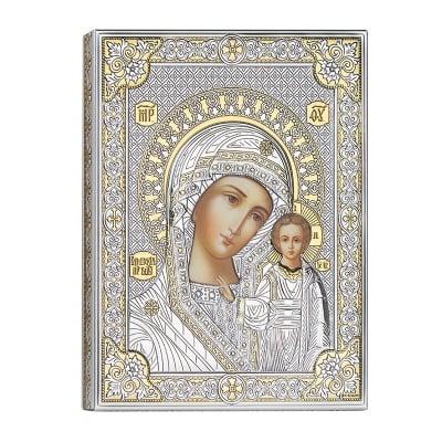 Икона Богородица сребро 12*16см.