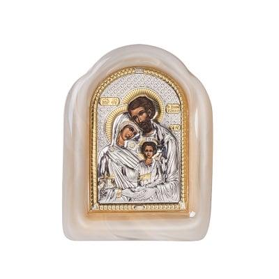 Икона Свето Семейство стъкло 8,5*11,5см.