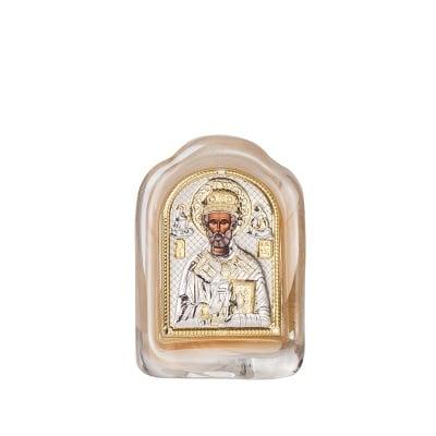 Икона св.Никола стъкло