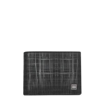 Мъжки черен портфейл CERRUTI 1881 - релефен