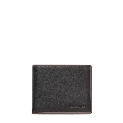 Мъжки портфейл CERRUTI 1881 - черен с кафява вътрешна част