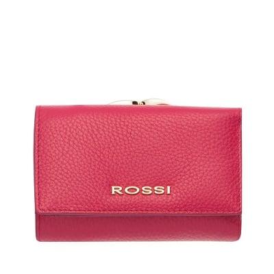 Малко дамско портмоне цвят  Малина Шагрен ROSSI