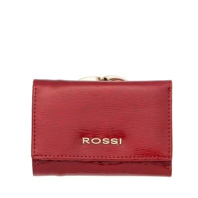 Малко дамско портмоне цвят Червено Гланц ROSSI