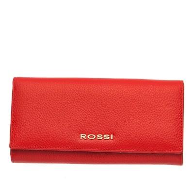 Дамско портмоне цвят Червено Шагрен ROSSI