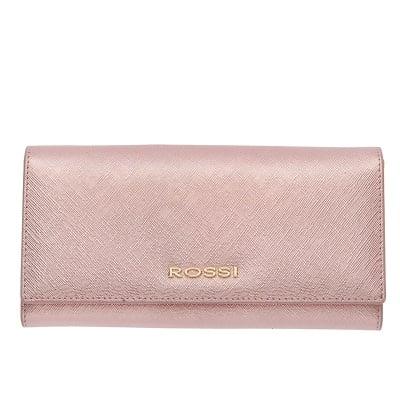 Дамско портмоне цвят Сафиано Блестящо Розово ROSSI