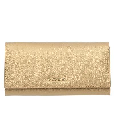 Дамско портмоне цвят Сафиано Златно ROSSI