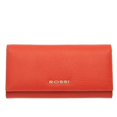 Дамско портмоне цвят Корал Шагрен ROSSI