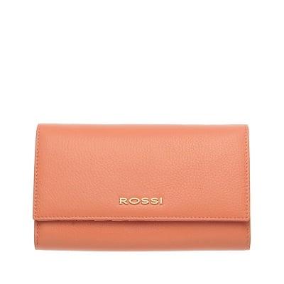 Дамско портмоне цвят Праскова Шагрен ROSSI