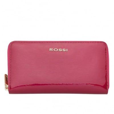 Дамско портмоне цвят Малина Гланц ROSSI