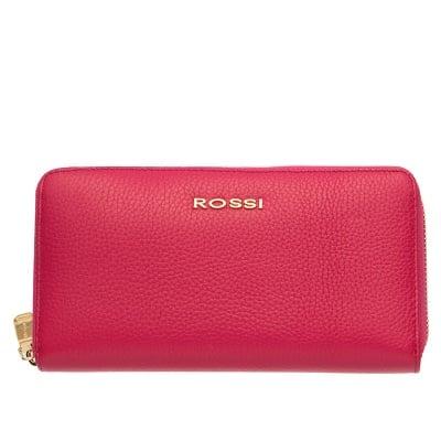 Дамско портмоне цвят  Малина Шагрен ROSSI