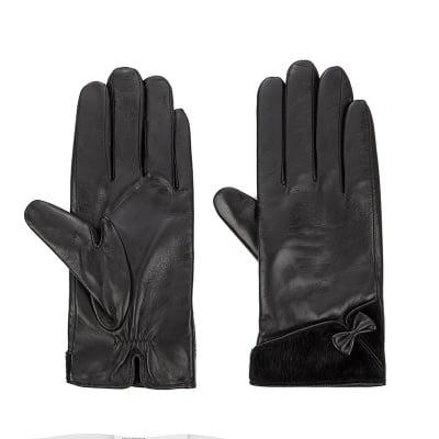 Дамски елегантни ръкавици с панделка ROSSI