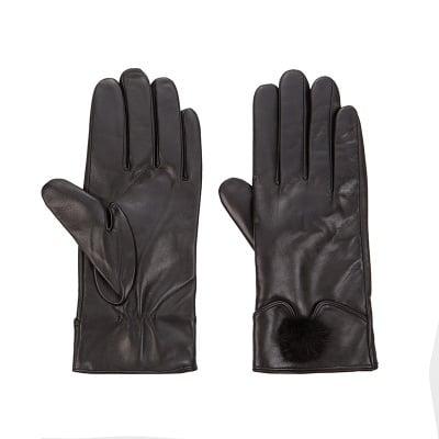 Дамски елегантни ръкавици с пухче ROSSI