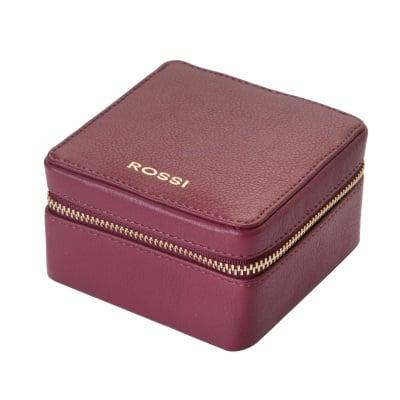Кутия за бижута цвят Винено червено - ROSSI