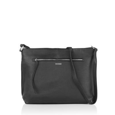 Дамска черна чанта - RОSSI
