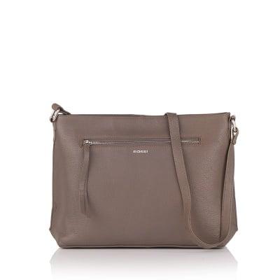 Дамска бежова чанта - RОSSI