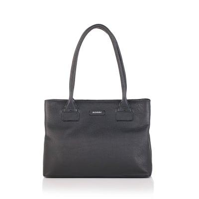 Черна елегатна чанта - ROSSI
