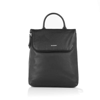 Дамска черна чанта - ROSSI