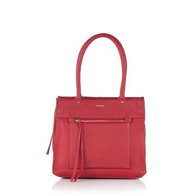 Дамска чанта наситено червено - ROSSI