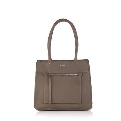 Дамска чанта маслено зелена - ROSSI