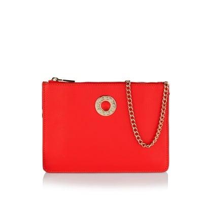 Дамска малка чанта в червено - ROSSI