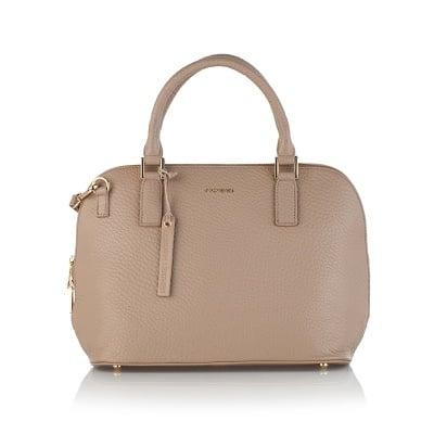 Дамска елегантна чанта в бежов цвят - ROSSI