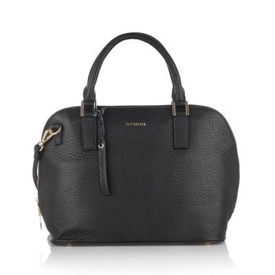 Дамска елегантна чанта в черно - ROSSI