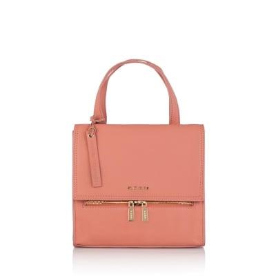 Дамска стилна чанта в маслено розово - ROSSI