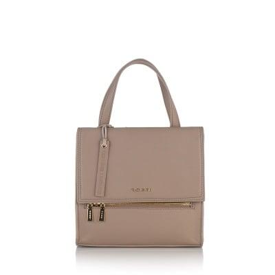 Дамска стилна чанта в бежаво - ROSSI