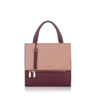 Дамска стилна раница в бордо и розово - ROSSI