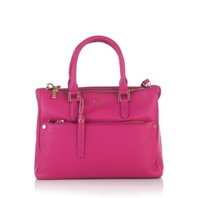 Дамска бизнес чанта в малиново розово - ROSSI
