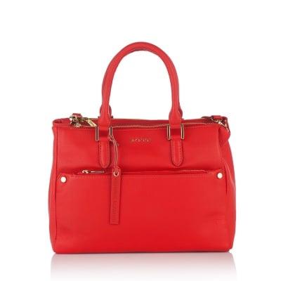 Дамска бизнес чанта в червен цвят - ROSSI