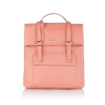 Стилна дамска раница в розово - ROSSI