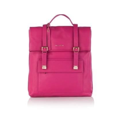 Стилна дамска раница в малиново розово - ROSSI