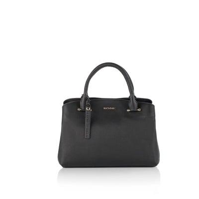 Класическа дамска чанта в черно - ROSSI