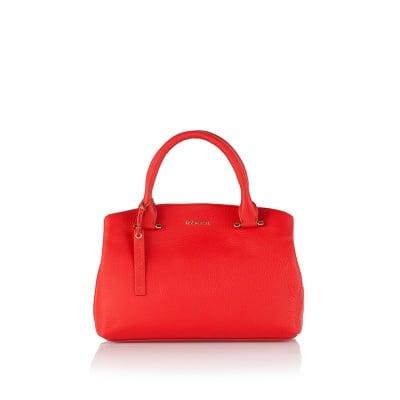 Класическа дамска чанта в червено - ROSSI
