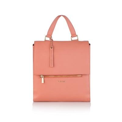 Дамска стилна раница в розово - ROSSI