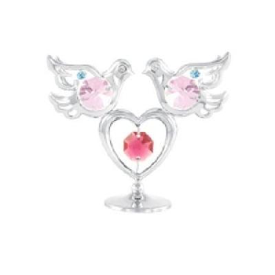 Гълъбчета със сърце сребро