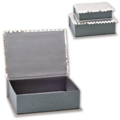 Кутии за бижута Silver - к-т от 2 броя
