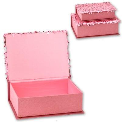 Кутии за бижута Pink - к-т от 2 броя