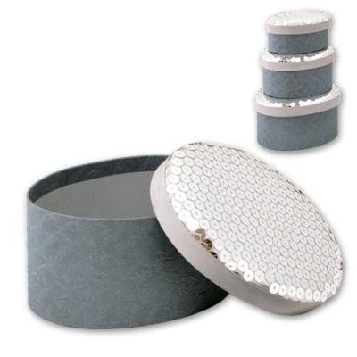 Кутии за бижута Silver - к-т от 3 броя