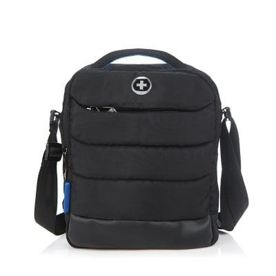 Черна спортна чанта  - SWISS DIGITAL