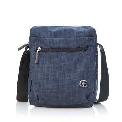 Мъжка спортна чанта синя - SWISS DIGITAL