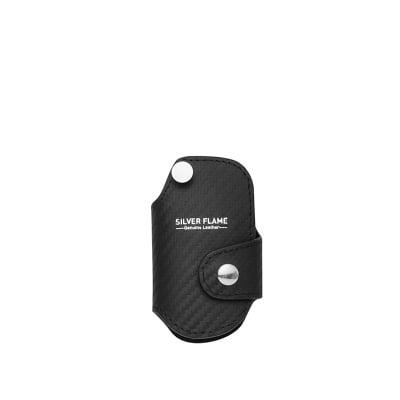 Калъф-ключодържател за авто ключ SILVER FLAME - колекция Карбон