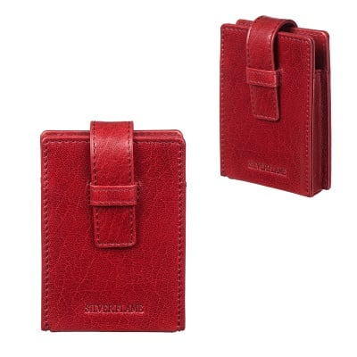 Калъф за цигари 100 мм червен SILVER FLAME